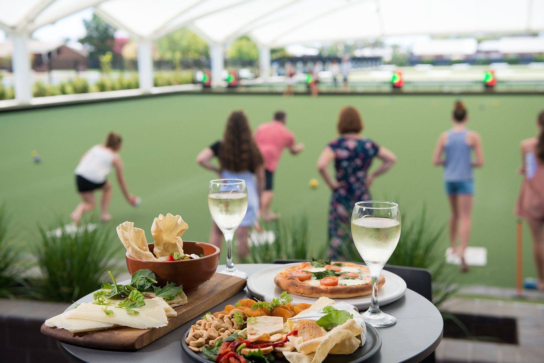 food options at The Greens at moama bowling club