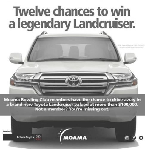 Win a Toyota Landcruiser