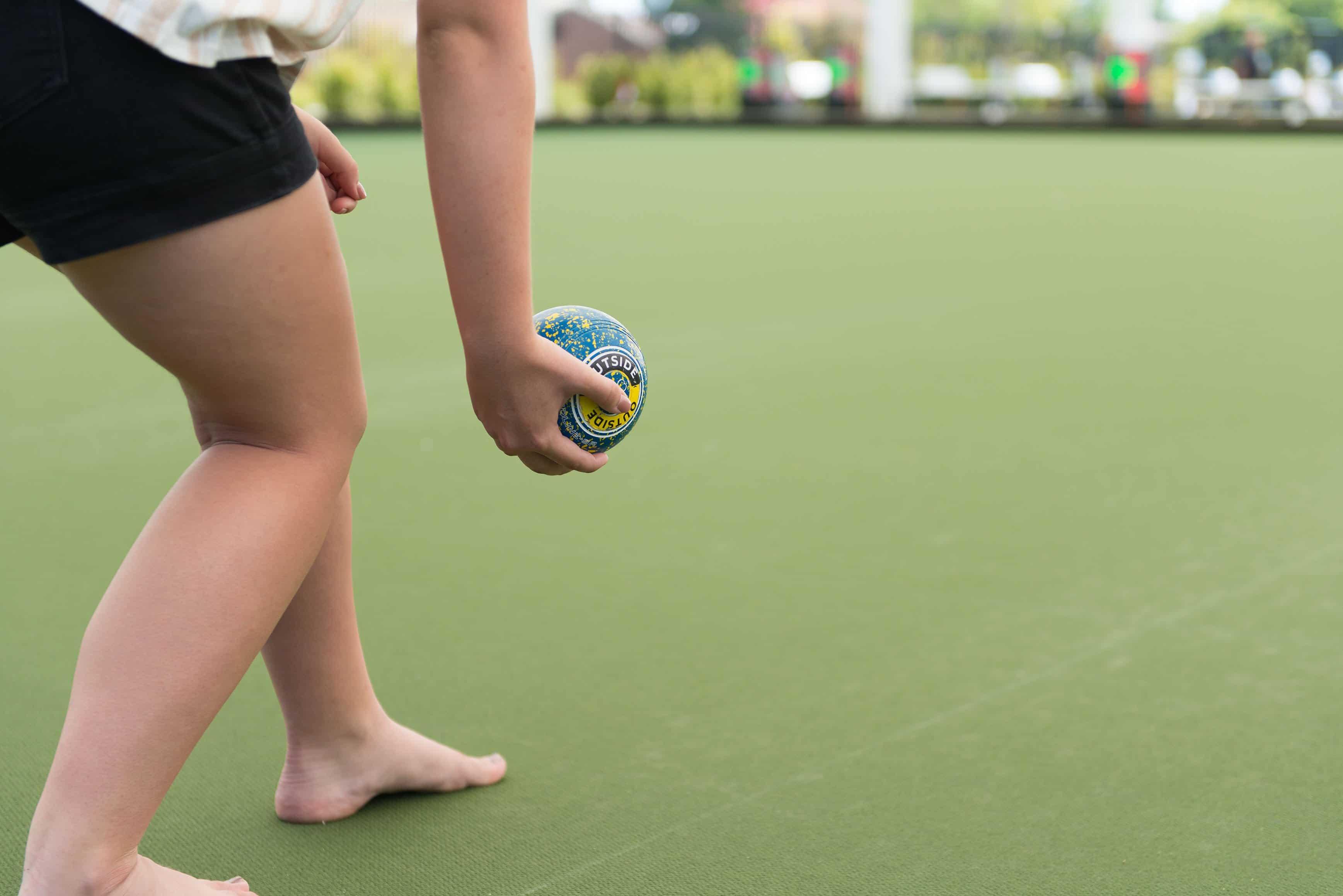 barefoot bowls at the greens