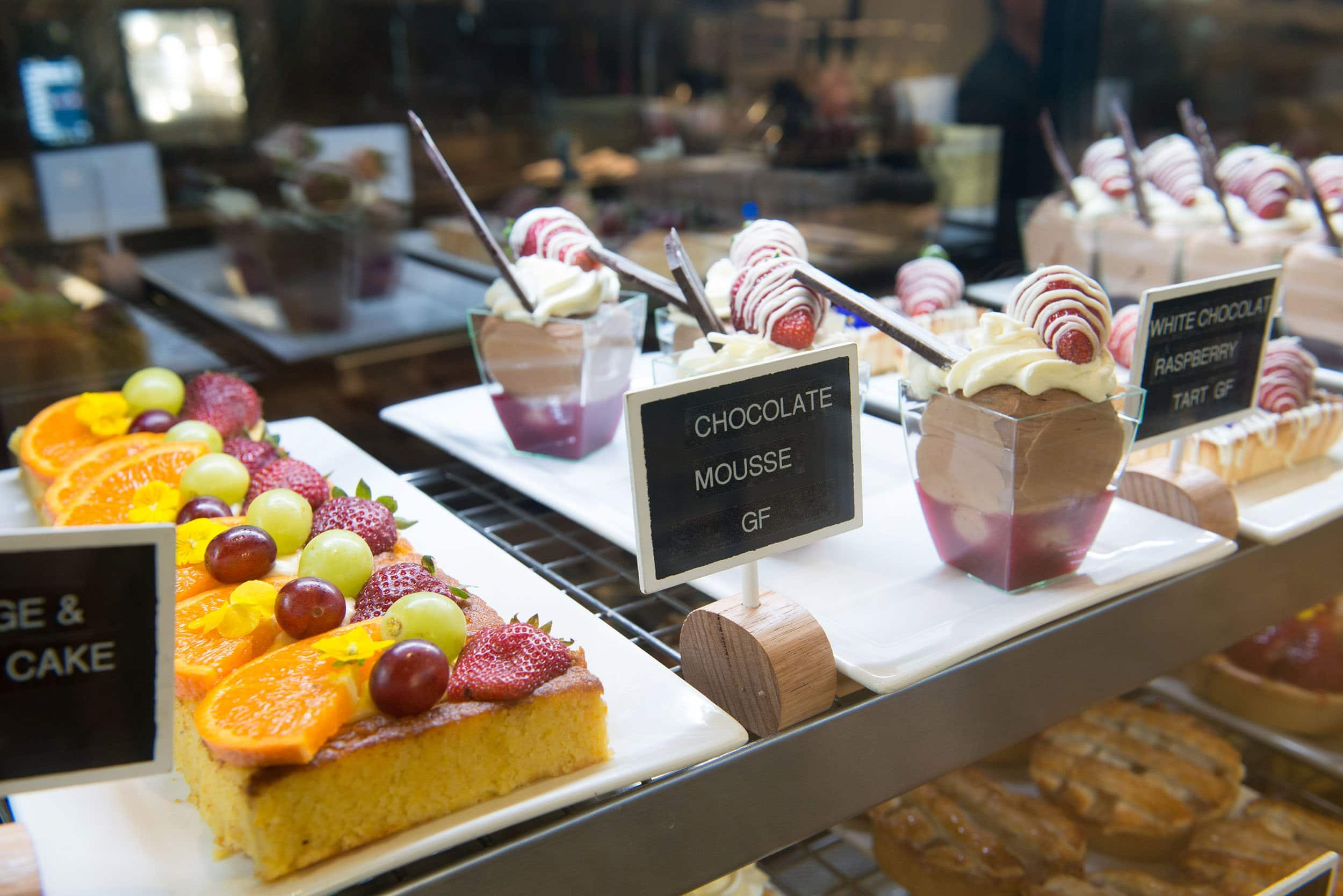 desserts, cakes, chocolate mousse, tarts, sweet treats, moama bowling club, the cafe, moama cafe